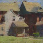 Jon Redmond, West Chester Back Porch, oil on board, 10 x 10 inches