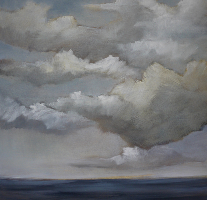Caroline Adams, Sea III, oil on canvas, 30 x 30 inches