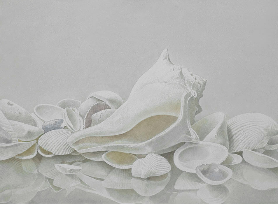 Greg Mort, Shades of White, 2013, watercolor, 21 x 29 inches