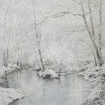 Greg Mort, Snow White, 2013, watercolor, 21 x 28 inches