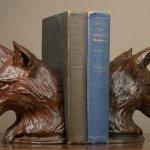 Rikki Morley Saunders, Fox Bookend, 2012, bronze, 7 1/2 x 6 x 5 3/4 inches
