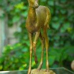 Rikki Morley Saunders, Julie, bronze, 26 1/2 x 22 1/2 x 5 inches