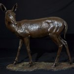 Rikki Morley Saunders, Spring Fling, 2013, bronze, 48 x 15 x 45 inches