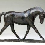 Rikki Morley Saunders, Volant, bronze, 10 1/4 x 17 1/2 x 3 1/2 inches