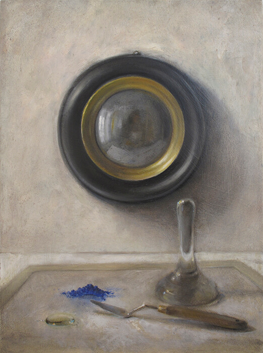 Jane Morris Pack, Blue Pigment, 2013, oil on canvas, 20 x 16 inches
