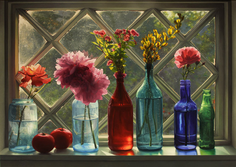 Scott Prior, Window in June, 2013, oil on canvas, 24 x 34 inches
