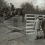 Frederic Remington (1861 - 1909), Getting Hunters in Horse-Show Form, 1895, oil on canvas, 27 1/8 x 40 inches