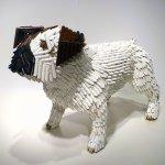 Federico Uribe, French Bulldog, 2014, pencils, 16 1/2 x 8 1/2 x 10 1/2 inches