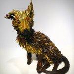 Federico Uribe, Street Dog, 2014, pencils, 14 x 10 x 17 1/2 inches