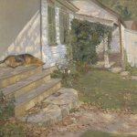 Henry Grinnell Thomson (1850 - 1937), Lazy Afternoon, c. 1915, oil on canvas, 18 1/2 x 24 inches