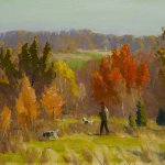 Harry Leith-Ross (1886 - 1973), Searching the Brush, oil on canvasboard, 12 x 15 15/16 inches
