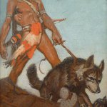 Remington Schuyler, Indian Boy, c. 1925, oil on canvas, 18 x 30 inches