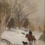 Samuel Lancaster Gerry (1813 - 1891), Winter Ride, oil on canvas, 20 x 14 inches