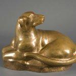 William Zorach (1887 - 1966), Granite Hound, 1933/34, bronze, ed. 3/6, 15 1/2 x 22 1/2 x 11 1/4 inches