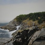 Peter Sculthorpe, Above Pulpit Rock, Monhegan Island, 2014, oil, 16 x 24 inches