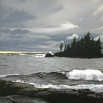 Peter Sculthorpe, Bay of Shoals, 2014, oil, 20 x 40 inches