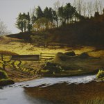 Peter Sculthorpe, Crossing the Buck Run, 2014, oil, 20 x 30 inches