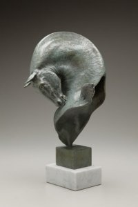 Julia Levitina, Mnemosyne (Sails of Memory), bronze, 17 1/2 x 7 x 8 inches, edition of nine