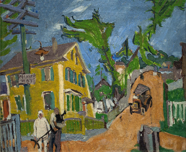 Stuart Davis (1894-1964), Private Way, 1916, oil on canvas, 18 x 22 inches