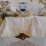Sarah McRae Morton, Crown, 2018, Oil on linen, 35 x 35 inches