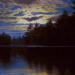 Greg Mort, Midnight Hour, 2015, pastel, 29 x 43 inches