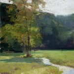 Jon Redmond, Smith Brook, 2015 oil on board, 10 x 10 inches