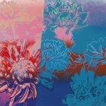 Andy Warhol, Kiku, 1983, color screenprint, 19 1/2 x 26 inches