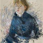 Berthe Morisot, Portrait de Louise Riesener, 1881, oil on canvas, 28 3/4 x 23 3/4 inches