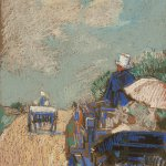 Childe Hassam, The Drive Near Paris, 1901, pastel on paper, 10 x 14 inches