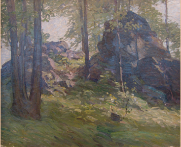 NC Wyeth, Boulders, c. 1911/1912, oil on canvas, 25 x 30 inches