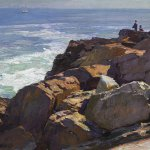 Edward Potthast, Rockbound Coast Ogunquit, oil on canvas, 25 x 30 inches