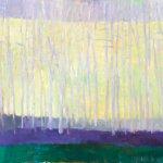 Wolf Kahn, Lemon Pines, 2001, 32 x 42 inches