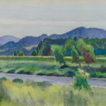 Edward Hopper, Rain on River, 1938 Watercolor on paper, 14 x 20 inches