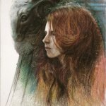 Steven Assael, Julie's Profile, 2010, Caran D'ache pencil on paper 13 3/4 x 11 inches