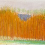 Wolf Kahn (b.1927), Dark Triangle in the Fall, 2004, pastel on paper, 11 x 14 inches