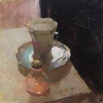 Jon Redmond, Empty Vessels, 2017, Oil on board, 10 x 10 inches