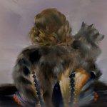 Sarah McRae Morton, She Already Had a Seat, 2017, oil on canvas, 20 x 20 inches