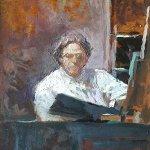 Michael Doyle, N.C. Wyeth, 2018, Oil on board, 6 1/2 x 4 3/4 inches