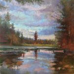 Michael Doyle, North Country Silence, oil on linen, 30 x 30 inches