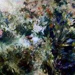 Sarah McRae Morton, The Thread of Semper Augustus, 2018, Oil on linen, 74 x 120 inches