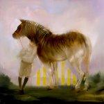 Sarah McRae Morton, Wilding Rosie, the Unbridled Quagga, 2018, Oil on linen, 24 x 24 inches