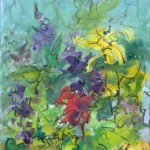 Mary Page Evans, Summer Garden Delphinium, 2018, Oil on canvas, 24 x 20 inches