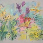 Mary Page Evans, Summer Garden Sketch, 2018, Pastel on paper, 19 1/2 x 25 1/2 inches