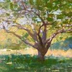 Jon Redmond, Under an Apple Tree, 2019, Oil on board, 10 x 10 inches