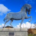 Andy Scott (example of commissioned work), Equus Clutha, Galvanized mild steel, 15 feet