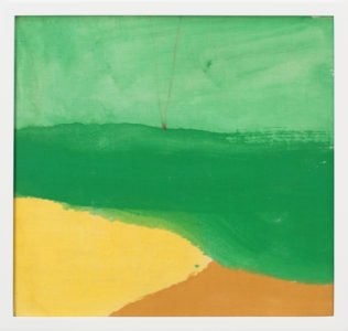 Helen Frankenthaler, Untitled, 1973, Oil on linen-covered book, 11 x 11 ⅜ x 1 ¾ inches