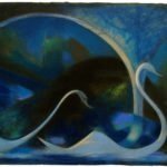 Joseph Stella, Swans (Night), 1917, Pastel on paper, 18 ¾ x 24 ½ inches