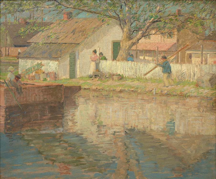 Rae Sloan Bredin, Little White House, c. 1915, Oil on canvas, 25 x 30 inches