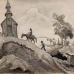 Thomas Hart Benton, Going to Church, 1930s-1940s; Watercolor, ink wash, and graphite on paper; 10 ½ x 14 ½ inches