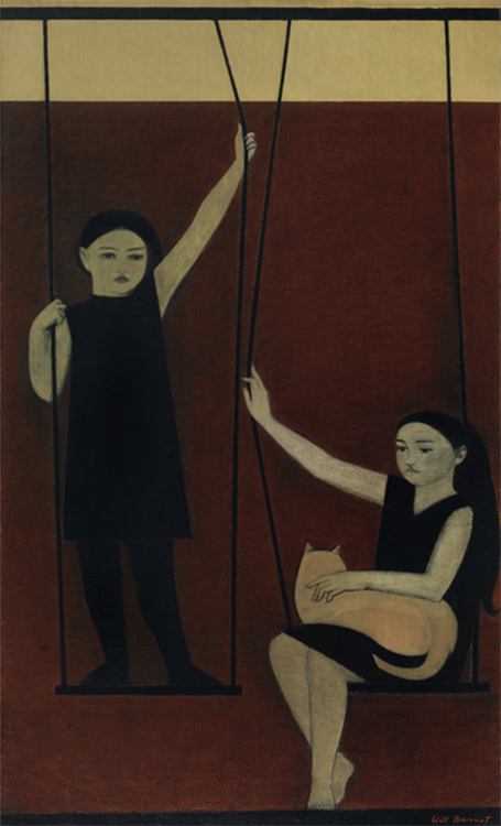 Will Barnet, The Swing, 1963, Oil on canvas, 45 ⅜ x 25 ¾ inches